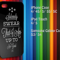 Samsung Galaxy S3/ S4 case, iPhone 4/4S / 5/ 5s/ 5c case, iPod Touch 4 / 5 case : i solemnly swear that i am harry potter