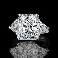 5 ct radiant center classic style settings ring. 635R71232can