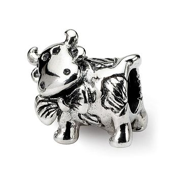 Sterling Silver Reflections Dairy Cow Bead
