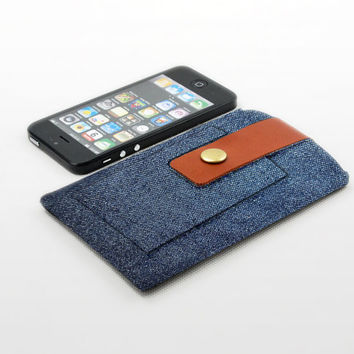 Sleeve iPhone Leather covering , Sleeve iPhone 5 Fabric, Sleeve iPhone 5c Fabric, Sleeve iPhone 5s Fabric, Sleeve iPhone 4 Fabric