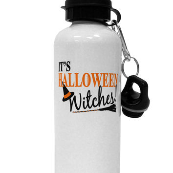 It's Halloween Witches Hat Aluminum 600ml Water Bottle