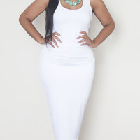 Grisel. Crisp White Midi Dress