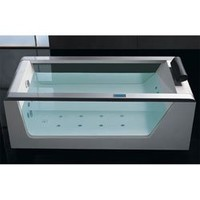 EAGO AM152-6 6-Feet Luxury Clear Whirlpool Hot Tub with Stereo and Lights