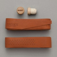 Brooks England Leather Bar Tape (Honey) | Oi Polloi