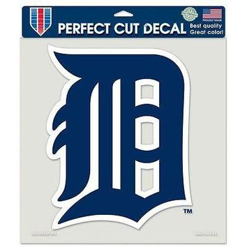 "MLB Detroit Tigers Primary Team Logo Perfect Cut Color Car Sticker Decal 8"" x 8"""