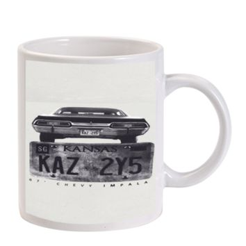 Gift Mugs | Kansas Supernatural Plate Ceramic Coffee Mugs