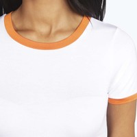 Rosie Contrast Binding Jersey Crop Top