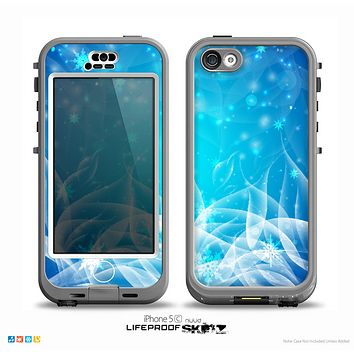 The Glowing White Snowfall Skin for the iPhone 5c nüüd LifeProof Case