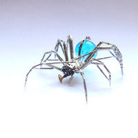 Watch Parts Spider Sculpture No 70 Recycled Watch Parts Clockwork Arachnid Figurine Stems Lightbulb Arthropod A Mechanical Mind Gershenson