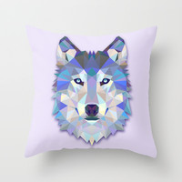 The Wolf Throw Pillow by AnastasiaDesign