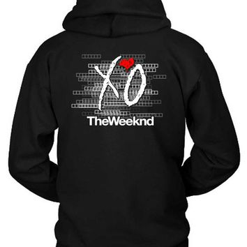 DCCKG72 The Weeknd Logo Blur Background Title Hoodie Two Sided