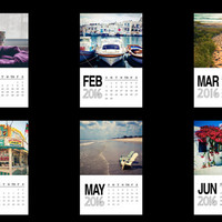 Photo calendar 2016, 4x6 desk calendar, travel photography, travel calendar, office calendar, Greece, Africa, NYC, summer, color photography