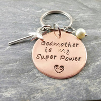 Godmother Gift~ Will You Be My Godmother~ Godmother Keychain~ Godmother Jewelry~ Super Powers~ Best Godmother~ PoliteTwistedJewel~ #37