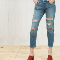 Relax fit ripped jeans - Jeans - Bershka United Arab Emirates