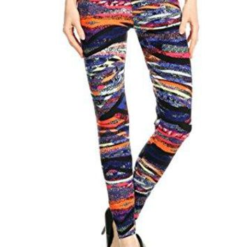 Leggings Mania Womens Regular Plus XS3XL Printed High Waist Ultra Soft Always Leggings  Many Patterns
