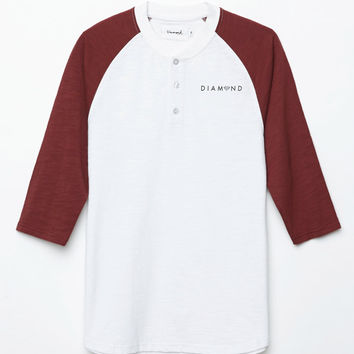 Diamond Supply Co x Garnet Slub Henley 3/4 Sleeve T-Shirt at PacSun.com