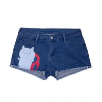 Catbug Denim Shorts