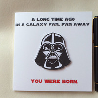 Birthday Card, Star Wars Birthday Card, Star Wars, Funny Card