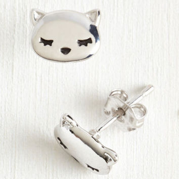 Cats Start Spreading the Snooze Earrings by ModCloth