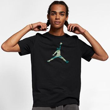 Air Jordan Tide brand men's loose basketball cotton t-shirt Black