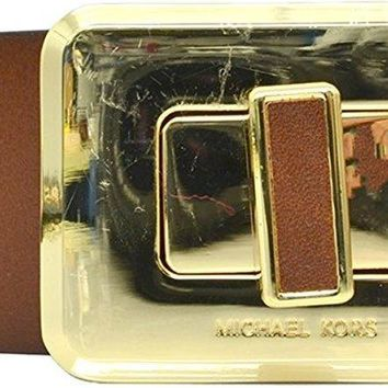 Michael Michael Kors Womens Turnlock Buckle Belt Brown Wide Large