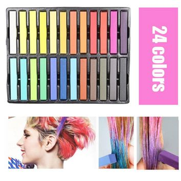 24 Pcs/Set Temporary Hair Chalk Non-Toxic Rainbow Colors Dye Pastel Kit Color Essentials Set For Cool Makeup Tool  FM88