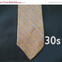 ON SALE 30s Vintage Necktie - 1930s Tie by Superba