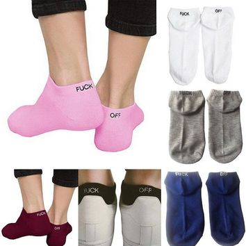 Men Women Fashion Design Funny Unisex Knit Sport Cotton Ankle Sock Breathable DS