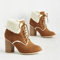 With Open Warms Bootie | Mod Retro Vintage Boots | ModCloth.com