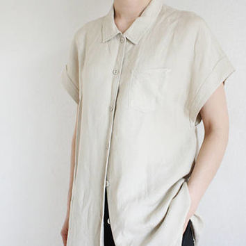 Linen Button down Tunic shirts