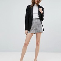 ASOS Tailored A-line Shorts in Grid Check at asos.com