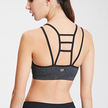 Low Impact - Heathered Ladderback Sports Bra