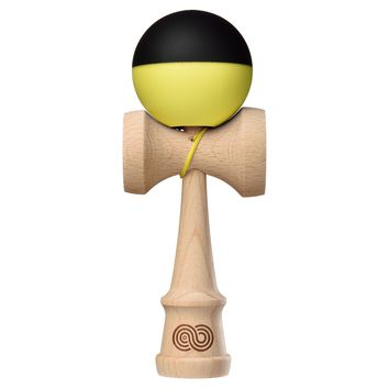 Tribute x Kaizen 2.0 Mashup Kendama - Half Split Neon Yellow \ Black