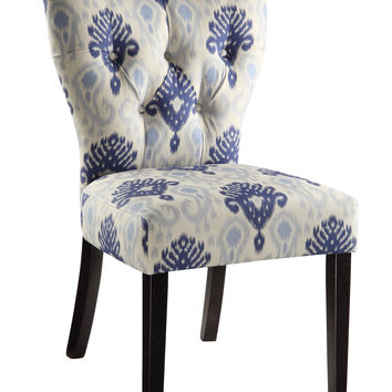 Office Star Andrew Chair in Medallion Ikat Blue [AND-M13]