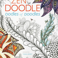 Zen Doodle Oodles of Doodles Adult Coloring Activity Book 100 Designs