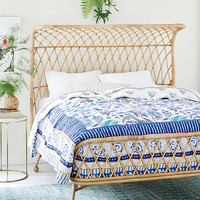 Curved Rattan Bed