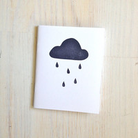 Medium Notebook: Rain Cloud, Brown, White, Portland, Cloud, Party, Wedding, Favor, Journal, Blank, Unlined, Unique, Gift, Notebook WH10/11x5