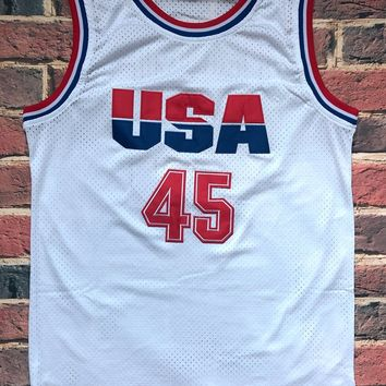 Donald Trump 45 USA Basketball Jersey 2016 Commemorative Edition