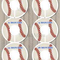 Huge Sale  6 PRECUT Baby Closet Dividers Baby Shower Gift Baseball Nursery Decor Clothing Baby Clothes  No CUTTING REQUIRED