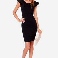 LULUS Exclusive Nice Touch Black Dress