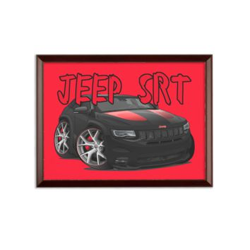 Jeep SRT Red Grand Cherokee Sublimation Wall Plaque