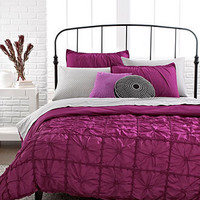 Knotted Squares 3 Piece Duvet Cover Sets - Bed in a Bag - Bed & Bath - Macy's