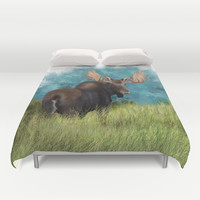 Moose  Duvet Cover by North Star Artwork