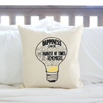 "Harry Potter ""Happiness Can Be Found""  Lightbulb Pillow"