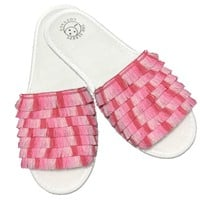Fiesta Slippers in Pink Piñata Ombre Fringe
