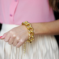 Gold All In My Chain Bracelet | Hope's