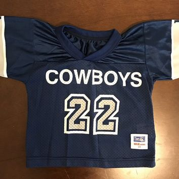 Vintage Wilson NFL Cowboys #22 Emmitt Smith Football Jersey Toddler Size 3T