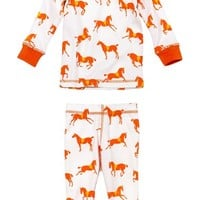 Toddler Girl's Masalababy 'Show Horse' Organic Cotton Two-Piece Fitted Pajamas