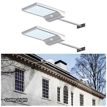 Outdoor Street Waterproof Wall Lights 450lm 48 LED Solar Power Street Light PIR Motion Sensor Light Garden Security Lamp