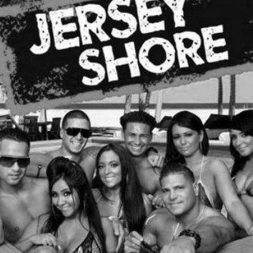 "Jersey Shore Poster Black and White Poster 16""x24"""
